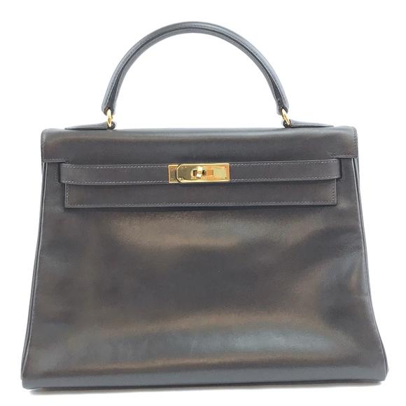Hermès Handbags - Kelly  Gold Hardware TBox Calf Leather Satchel